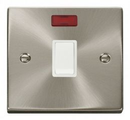 Scolmore Click Deco VPSC623WH 20A 1 Gang DP Switch + Neon - White