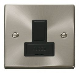 Scolmore Click Deco VPSC651BK 13A Fused Switched Connection Unit - Black