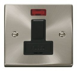 Scolmore Click Deco VPSC652BK 13A Fused Switched Connection Unit With Neon - Black