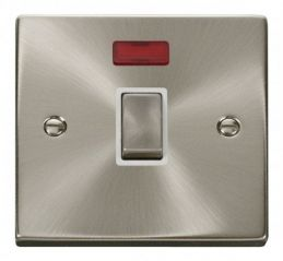 Scolmore Click Deco VPSC723WH 20A 1 Gang DP Ingot Switch + Neon - White