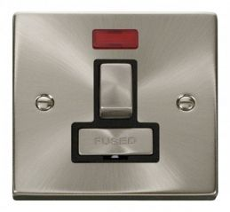 Scolmore Click Deco VPSC752BK 13A Fused Ingot Switched Connection Unit With Neon - Black