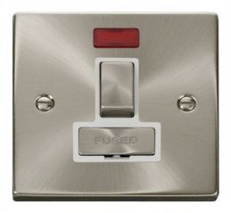 Scolmore Click Deco VPSC752WH 13A Fused Ingot Switched Connection Unit With Neon - White