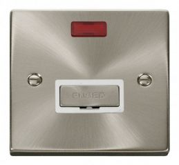 Scolmore Click Deco VPSC753WH 13A Fused Ingot Connection Unit With Neon - White