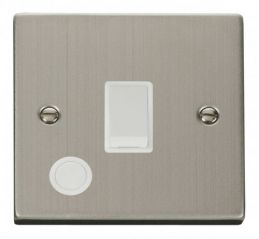 Scolmore Click Deco VPSS022WH 20A 1 Gang DP Switch With Flex Outlet - White