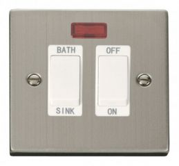 Scolmore Click Deco VPSS024WH 20A DP Sink/Bath Switch - White