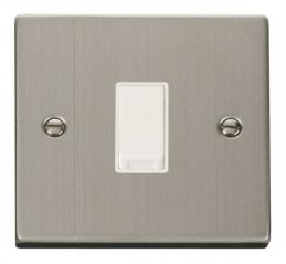 Scolmore Click Deco VPSS025WH 1 Gang Intermediate 10AX Switch - White