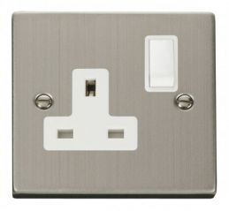 Scolmore Click Deco VPSS035WH 1 Gang 13A DP Switched Socket Outlet - White