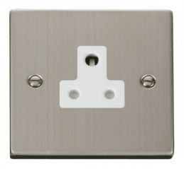 Scolmore Click Deco VPSS038WH 5A Round Pin Socket Outlet - White
