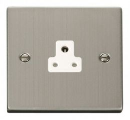 Scolmore Click Deco VPSS039WH 2A Round Pin Socket Outlet - White