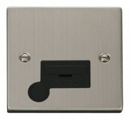 Scolmore Click Deco VPSS050BK 13A Fused Connection Unit With Flex Outlet - Black