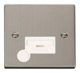 Scolmore Click Deco VPSS050WH 13A Fused Connection Unit With Flex Outlet - White