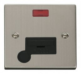 Scolmore Click Deco VPSS053BK 13A Fused Connection Unit With Flex Outlet & Neon - Black