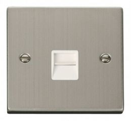 Scolmore Click Deco VPSS120WH Single Telephone Socket Outlet Master - White