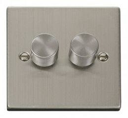 Scolmore Click Deco VPSS152 2 Gang 2 Way 400W Dimmer Switch