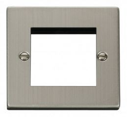 Scolmore Click Deco VPSS311 Single Plate (Twin Media Module Aperture)