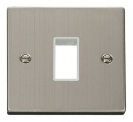 Scolmore Click Deco VPSS401WH 1 Gang Plate Single Aperture - White