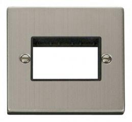 Scolmore Click Deco VPSS403BK 1 Gang Plate Triple Aperture - Black