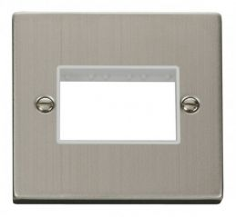 Scolmore Click Deco VPSS403WH 1 Gang Plate Triple Aperture - White