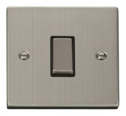 Scolmore Click Deco VPSS411BK 1 Gang 2 Way Ingot 10AX Switch - Black