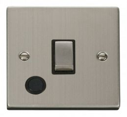 Scolmore Click Deco VPSS522BK 20A 1 Gang DP Ingot Switch With Flex Outlet - Black