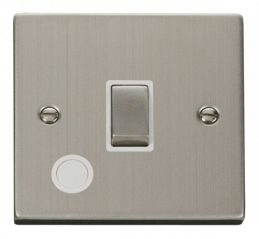 Scolmore Click Deco VPSS522WH 20A 1 Gang DP Ingot Switch With Flex Outlet - White