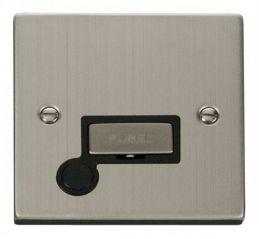 Scolmore Click Deco VPSS550BK 13A Fused Ingot Connection Unit With Flex Outlet - Black