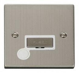 Scolmore Click Deco VPSS550WH 13A Fused Ingot Connection Unit With Flex Outlet - White