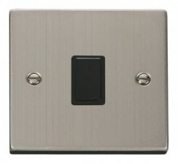 Scolmore Click Deco VPSS622BK 20A 1 Gang DP Switch - Black