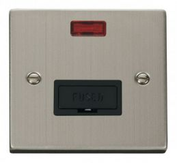 Scolmore Click Deco VPSS653BK 13A Fused Connection Unit With Neon - Black