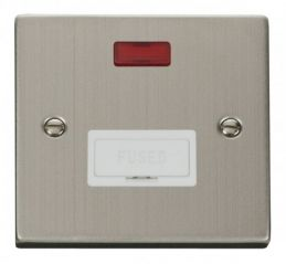 Scolmore Click Deco VPSS653WH 13A Fused Connection Unit With Neon - White