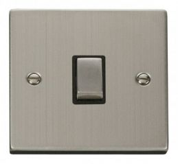 Scolmore Click Deco VPSS722BK 20A 1 Gang DP Ingot Switch - Black