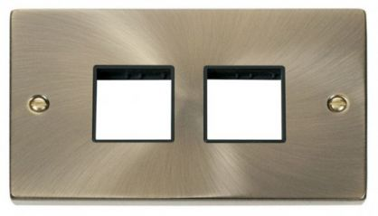 Scolmore Click Deco VPAB404BK 2 Gang Plate (2 x 2) Aperture - Black