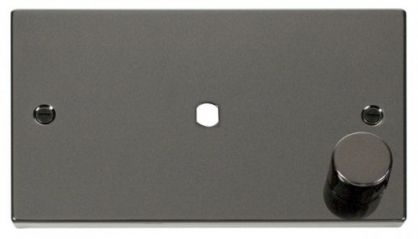 Scolmore Click Deco VPBN185 2 Gang Plate Single Aperture (1000W Max)