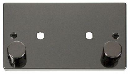 Scolmore Click Deco VPBN186 2 Gang Plate Twin Aperture (1630W Max)