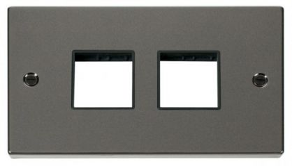 Scolmore Click Deco VPBN404BK 2 Gang Plate (2 x 2) Aperture
