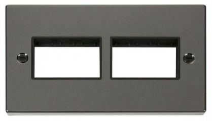Scolmore Click Deco VPBN406BK 2 Gang Plate (3 x 3) Aperture