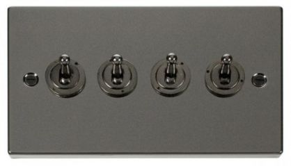 Scolmore Click Deco VPBN424 4 Gang 2 Way 10AX Toggle Switch