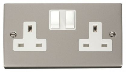 Scolmore Click Deco VPPN036WH 2 Gang 13A DP Switched Socket Outlet - White