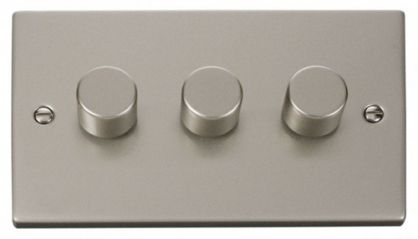 Scolmore Click Deco VPPN153 3 Gang 2 Way 400W Dimmer Switch