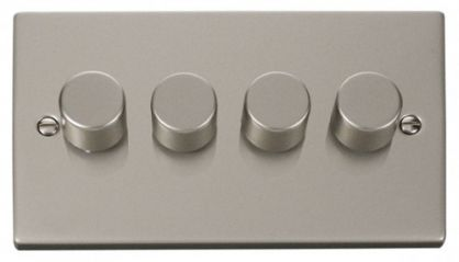 Scolmore Click Deco VPPN154 4 Gang 2 Way 400W Dimmer Switch