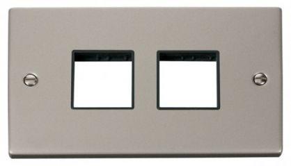 Scolmore Click Deco VPPN404BK 2 Gang Plate (2 x 2) Aperture - Black
