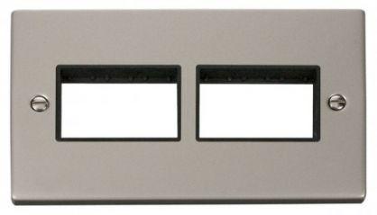 Scolmore Click Deco VPPN406BK 2 Gang Plate (3 x 3) Aperture - Black