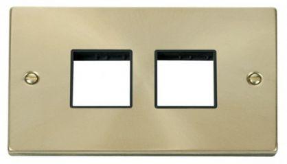 Scolmore Click Deco VPSB404BK 2 Gang Plate (2 x 2) Aperture - Black