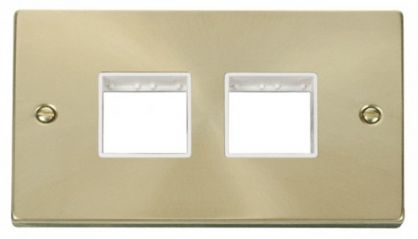Scolmore Click Deco VPSB404WH 2 Gang Plate (2 x 2) Aperture - White