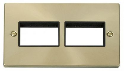 Scolmore Click Deco VPSB406BK 2 Gang Plate (3 x 3) Aperture - Black