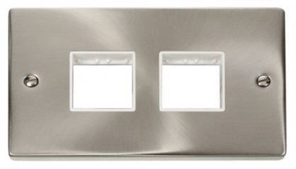Scolmore Click Deco VPSC404WH 2 Gang Plate (2 x 2) Aperture - White