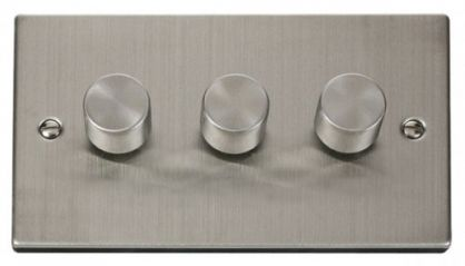 Scolmore Click Deco VPSS153 3 Gang 2 Way 400W Dimmer Switch