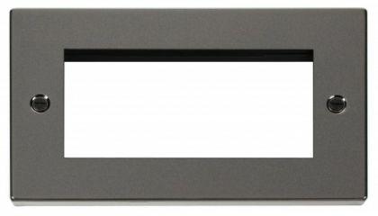 Scolmore Click Deco VPBN312 Double Plate - Quad Media Module Aperture