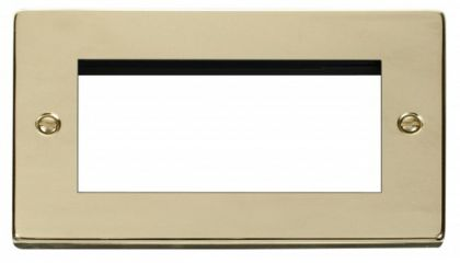 Scolmore Click Deco VPBR312 Double Plate - Quad Media Module Aperture