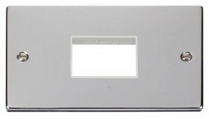 Scolmore Click Deco VPCH432WH Double Minigrid Plate Triple Aperture - White